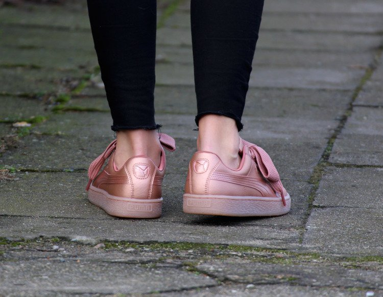 puma heart basket copper